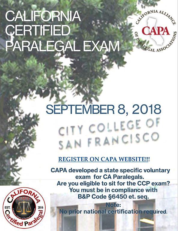 San Francisco Paralegal Association California Certified Paralegal