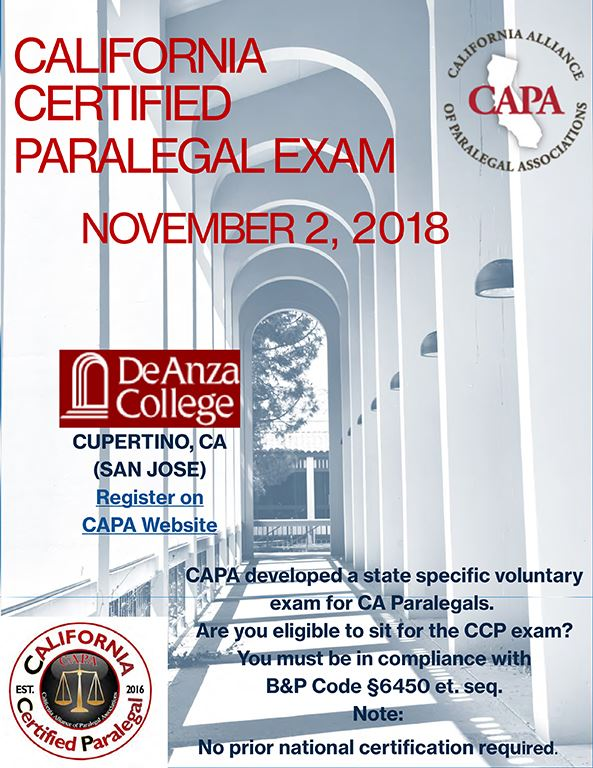 San Francisco Paralegal Association California Certified Paralegal