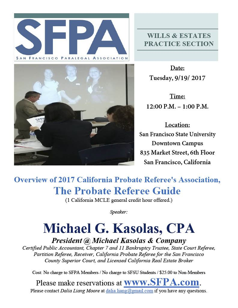 San Francisco Paralegal Association - Overview of 2017